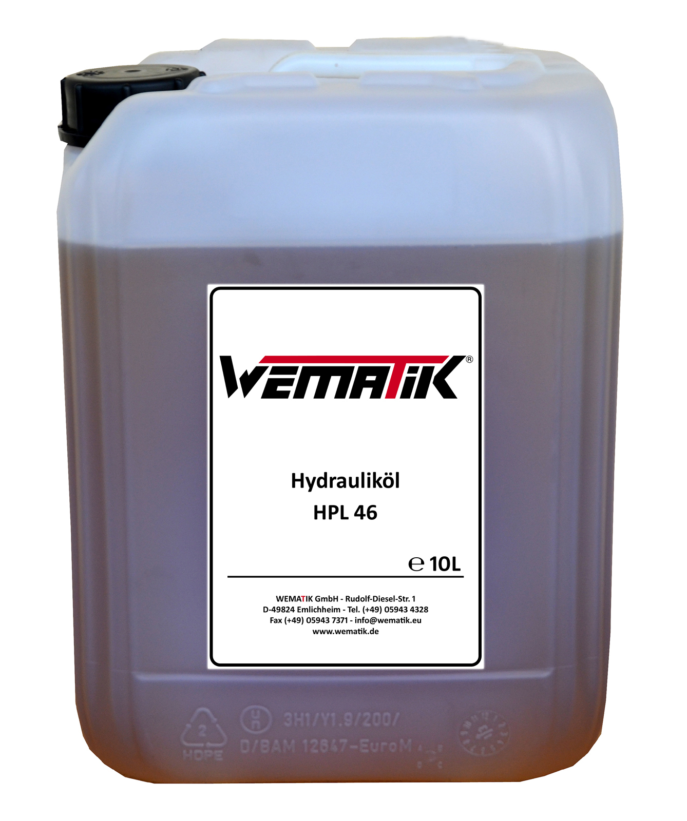 Hydrauliköl HPL46 10 Liter inkl. Ölkanister